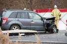 schwerer Verkehrsunfall B100 (31.1.2016)